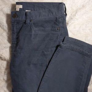 J Crew corduroy pants grey blue color